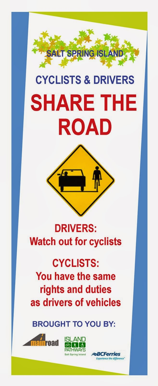 """""""Share the Road"""" brochure"""