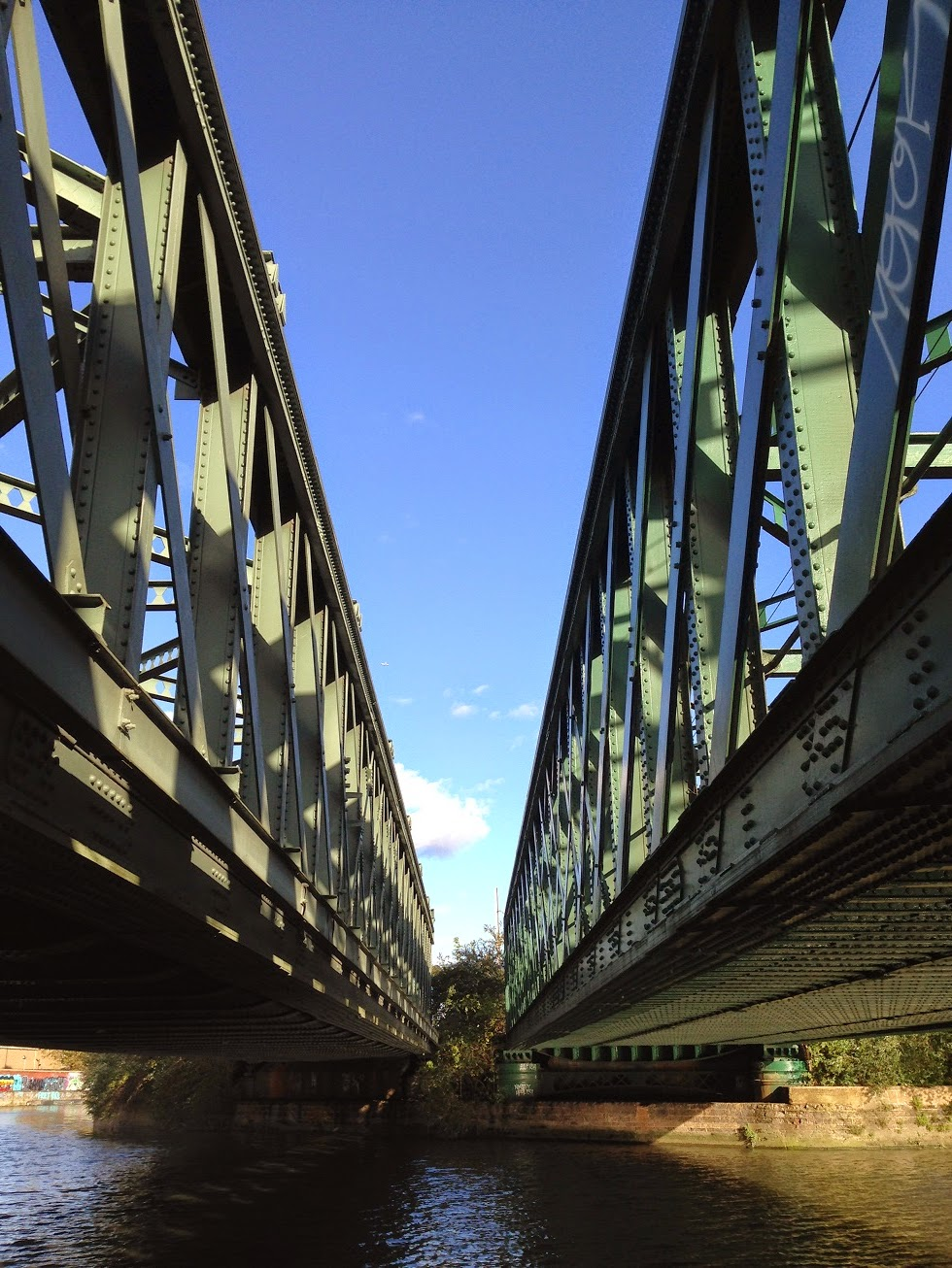 Railway bridge over the River Lea, Bromley-by-Bow, London