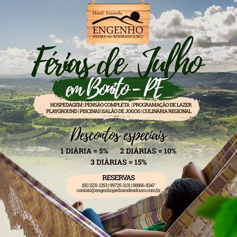 Férias de Julho é no Hotel Fazenda Pedra do Rodeadouro