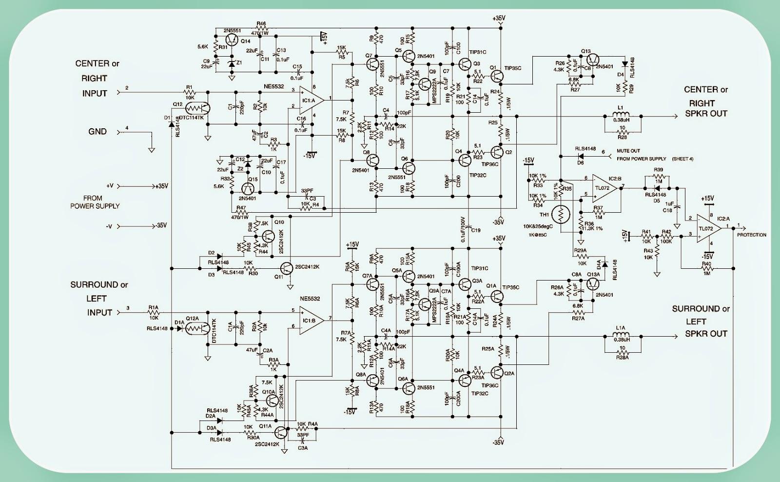BASS 550 JBL Powered Subwoofer SCHEMATIC Circuit Diagram