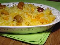 Arroz com Cenoura e Castanhas-de-Caju (vegana)