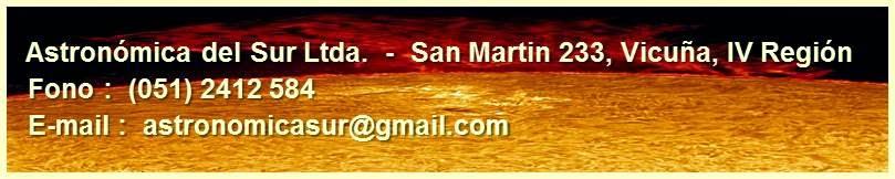 GRAN OBSERVATORIO SOLAR DE CHILE (GOSCh), CONTACTENOS EN :