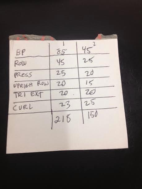 The Villainous 45 Pound Bar Upper Body Workout