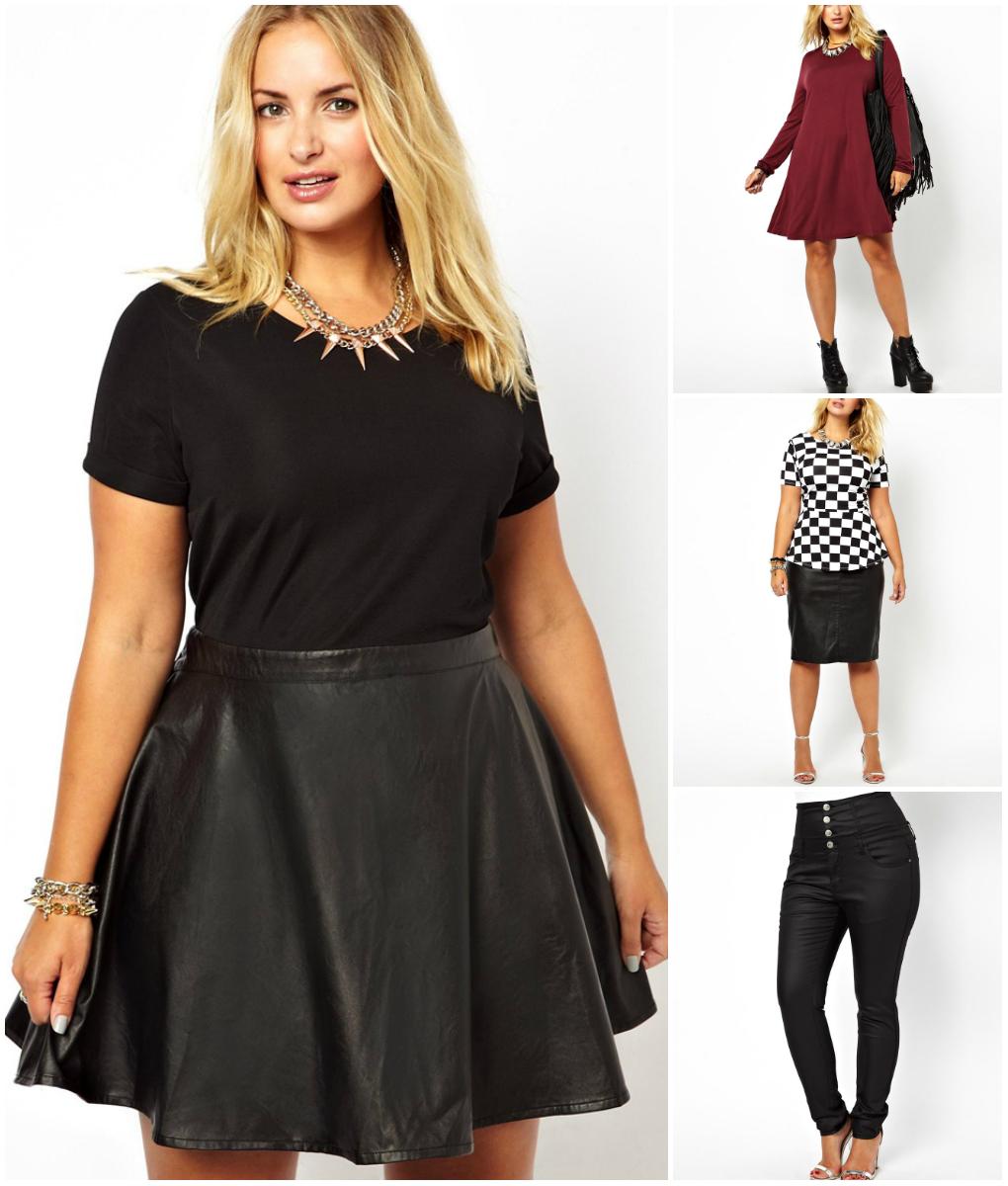 Black faux leather lace skater dress