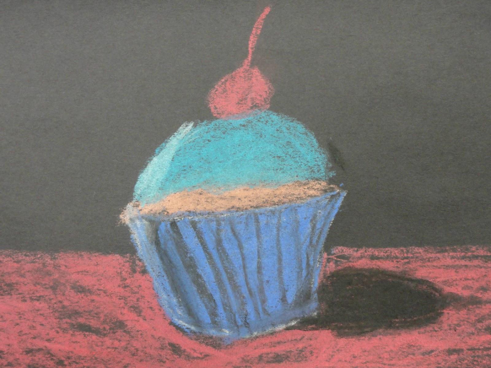 Cupcake Art Lesson : Splats, Scraps and Glue Blobs: Wayne Thiebaud Inspired ...