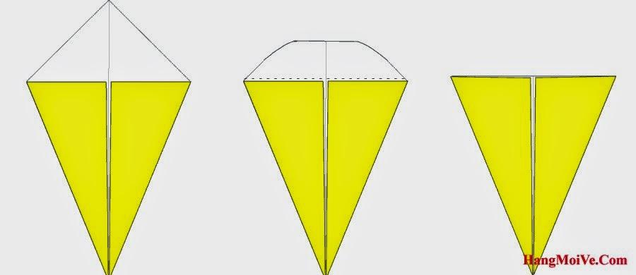 Bước 3: Gấp góc trên cùng tờ giấy về phía sau (hình 2) để tạo như hình 3.