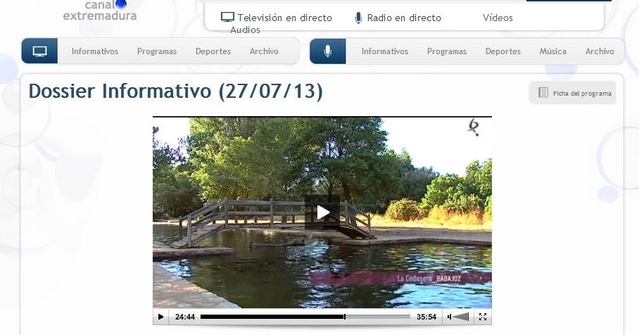 Turismo la codosera aguas dulces extremadura - Piscinas naturales badajoz ...