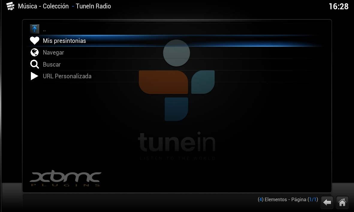 TUNEIN RADIO XBMC