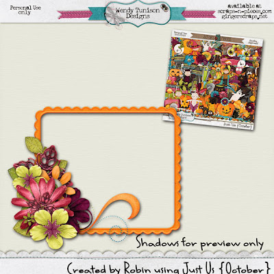 Just Us {October} from Wendy Tunison and a Freebie