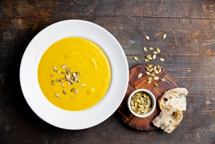 Pumpkin soup with seeds