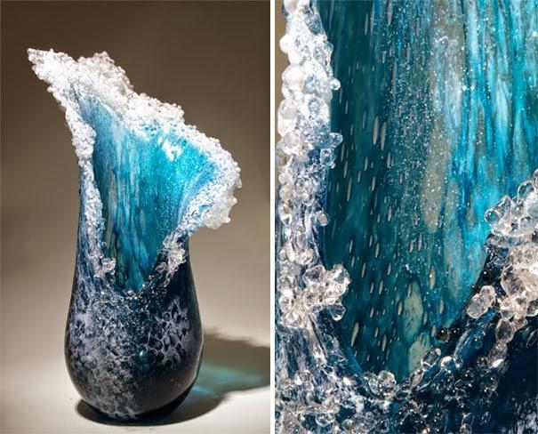ocean waves glass sculptures-2
