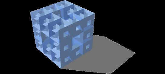 Esponja de Menger nivel 2 con sketchUp