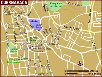 Cuernavaca Mapa Político Región