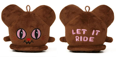 "Brown Cat ""Let It Ride"" Buff Monster Plush Figure"