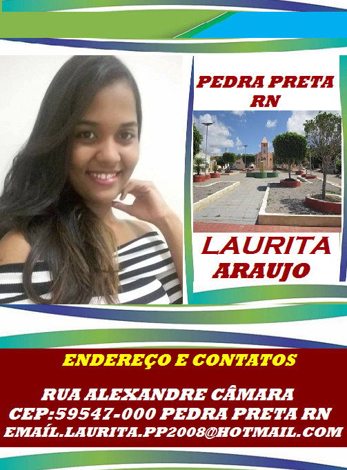 LAURITA ARAÚJO PEDRA PRETA RN