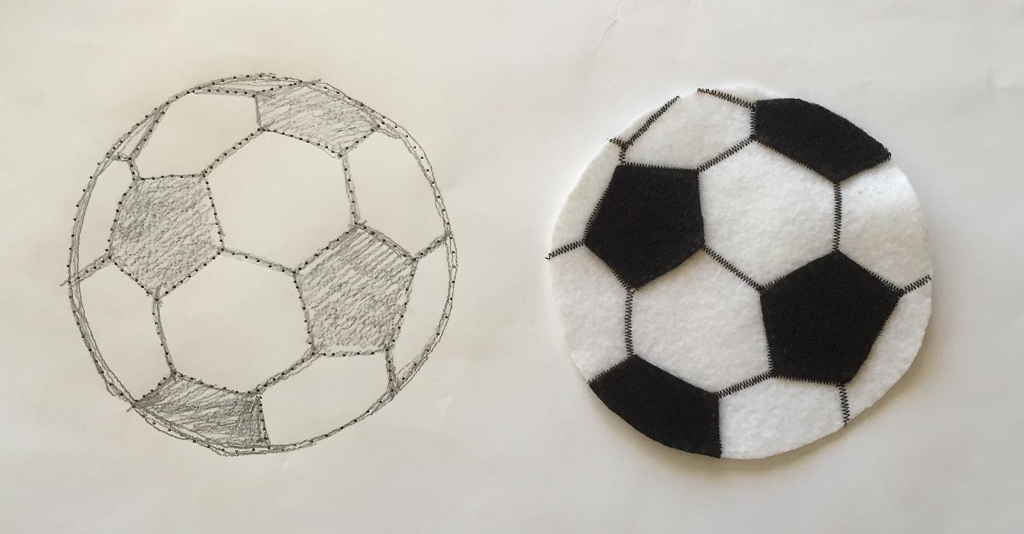 Felt football pattern / Online Sale