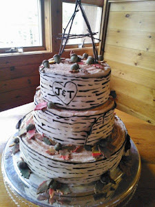 My daughter Tricia's wedding cake