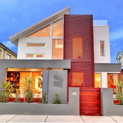 Fachadas de casas de lujo dise o l neas y estilos fotos for Fachadas de hoteles minimalistas