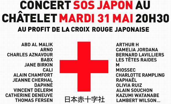 Concert SOS Japon au Châtelet à Paris