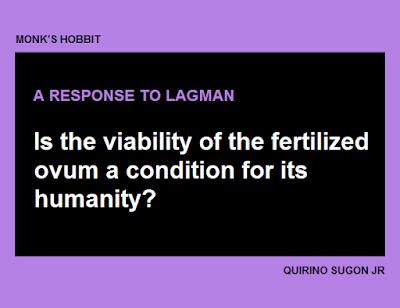 Response to Lagman
