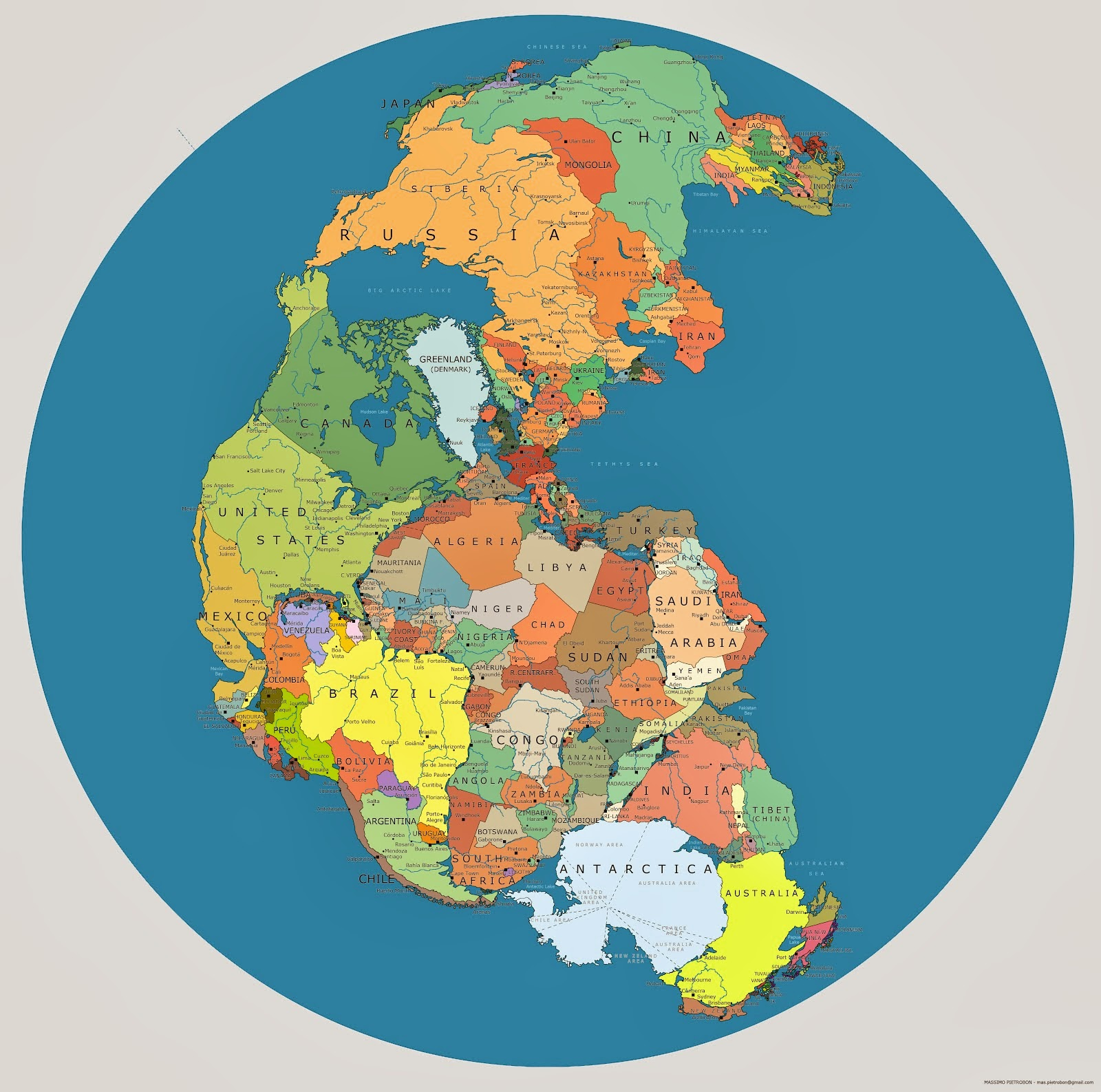pangaea started to break up into two smaller supercontinents called laurasia and gondwanaland during the jurassic period by the end of the cretaceous