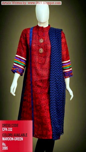 Change Winter Kurti Collection 2014-2015