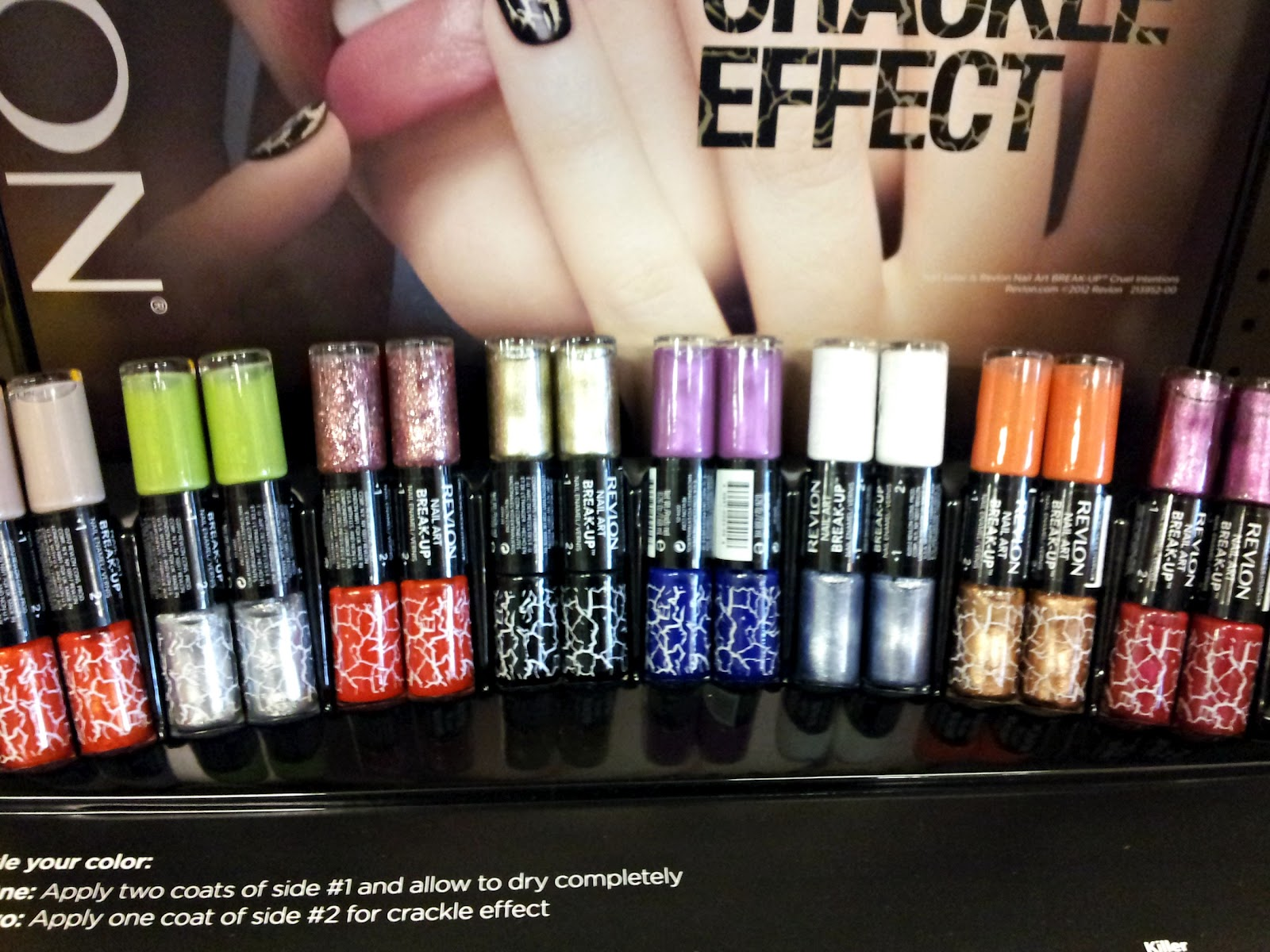 Spotted In Store Revlon Nail Art Break Up Crackle Effect Polish