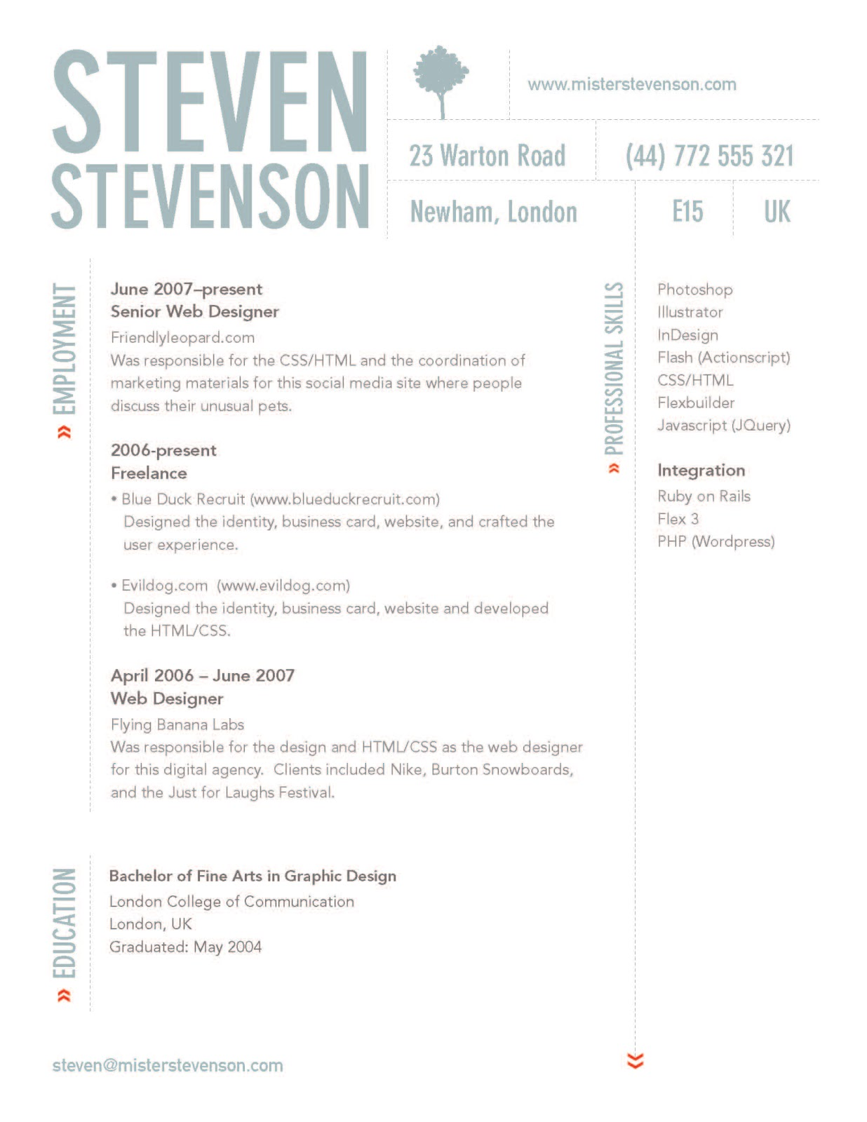 sophie wilson    personal  u0026 professional development  ppd    creative cv    existing examples and