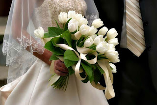 white tulips for wedding