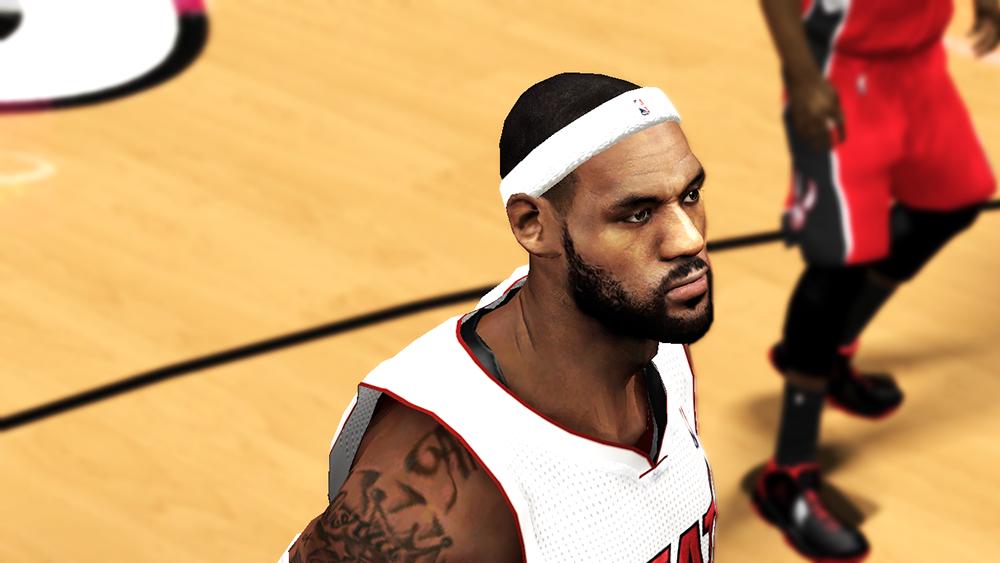 NBA 2K14 LeBron James Next-Gen Cyberface Mod