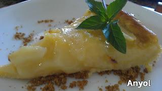 tarta de pera y limon