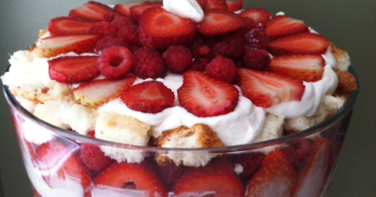 Trifle Recipe Cut Angel Food Cake In Cubes