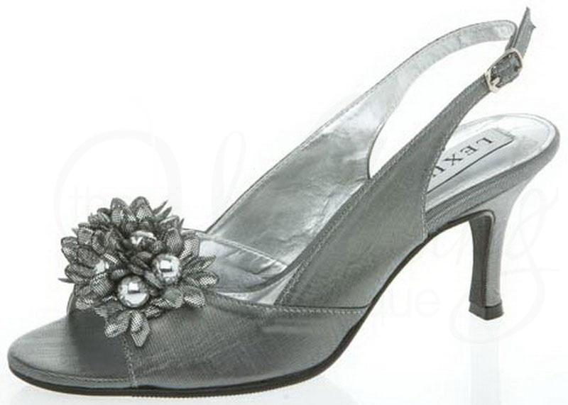 exotic grey wedding shoes