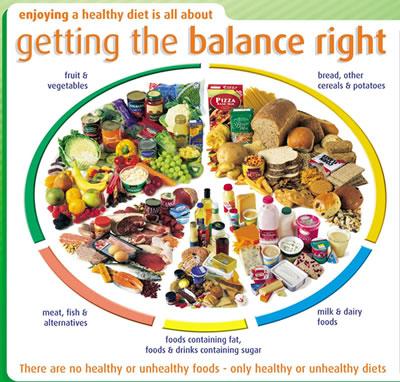 Balanced diet menu planner