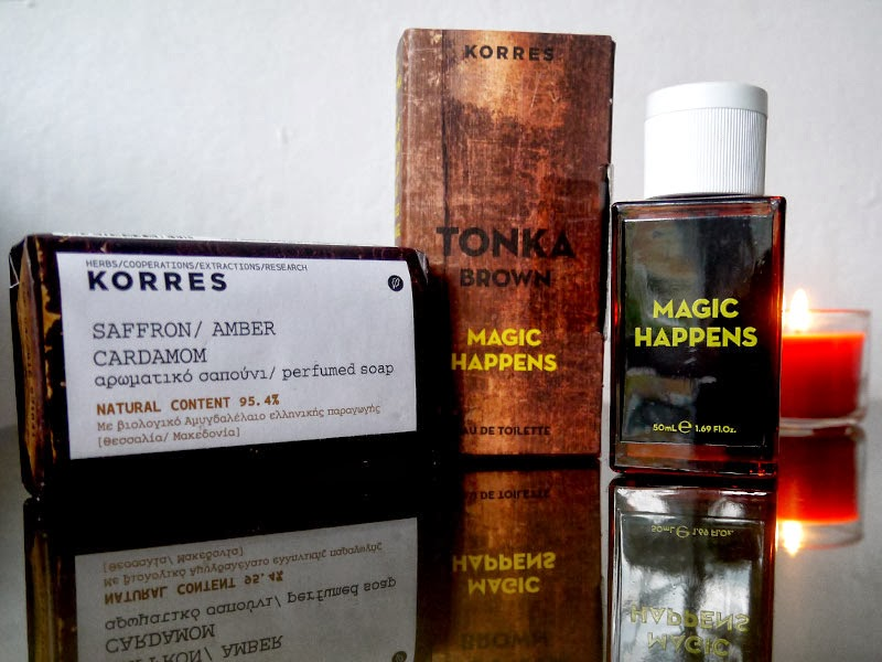 Korres Tonka Brown Fragrance, Safrron, Amber & Cardamom Soap