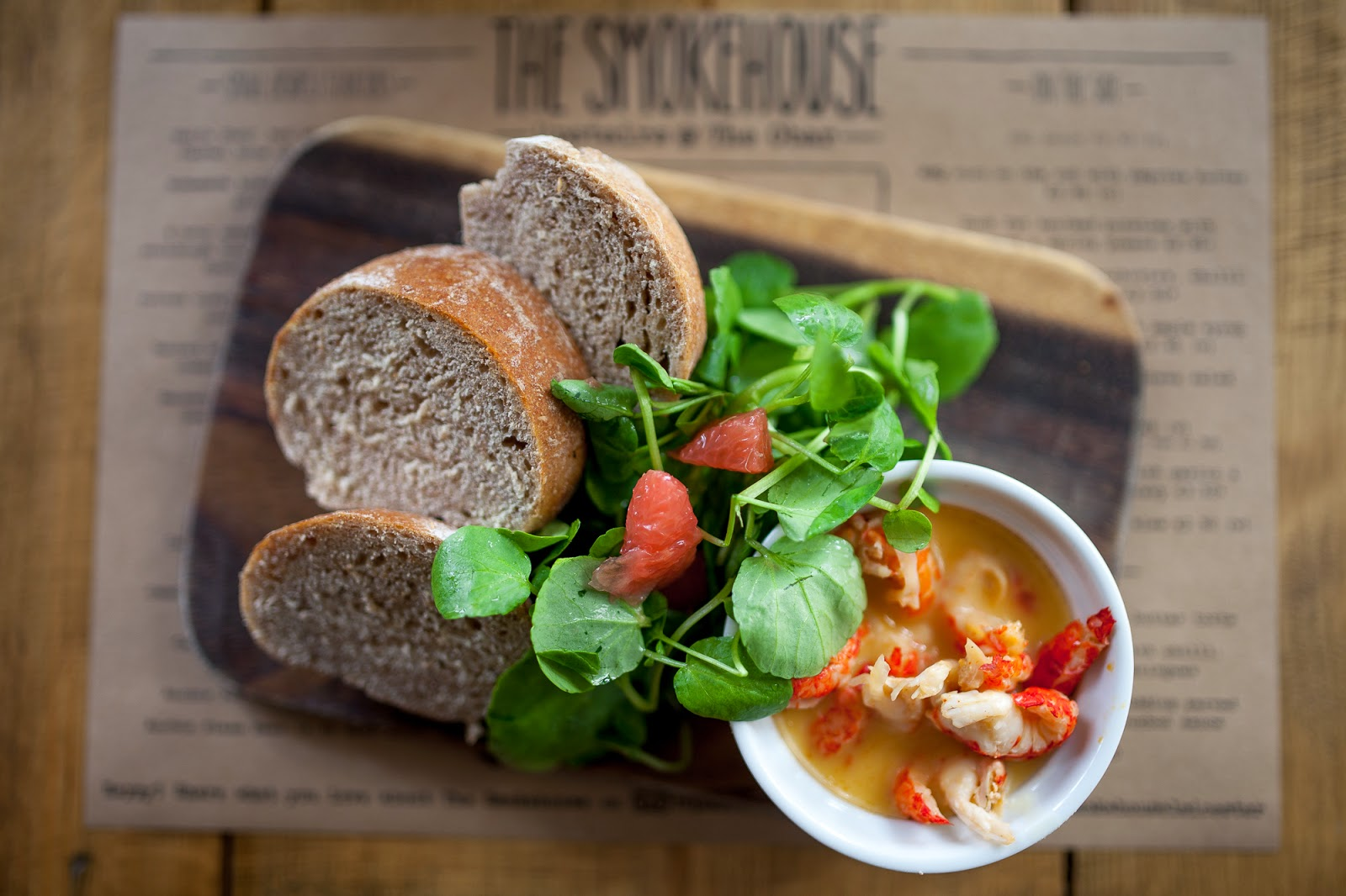 potted crayfish and bread