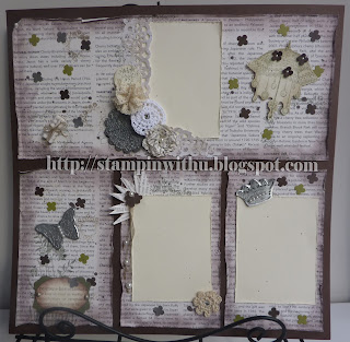 Antique Shabby Chic Scrapbook page