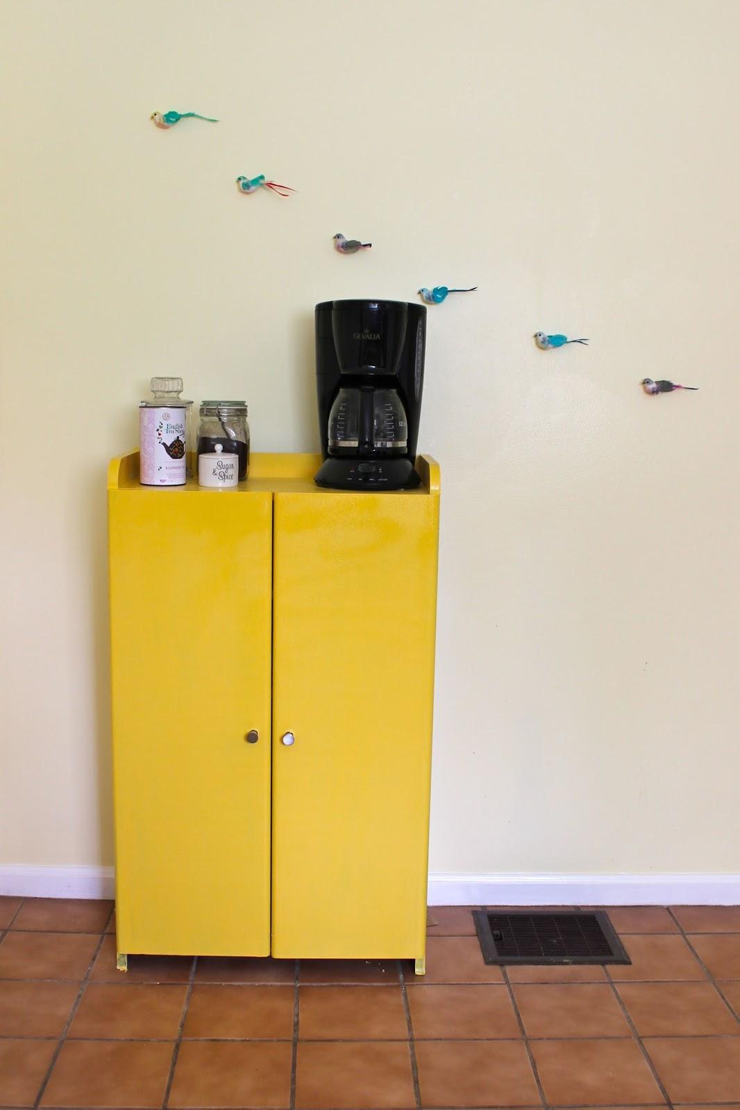 Paint a Coffee Bar Yellow – Dina\'s Days