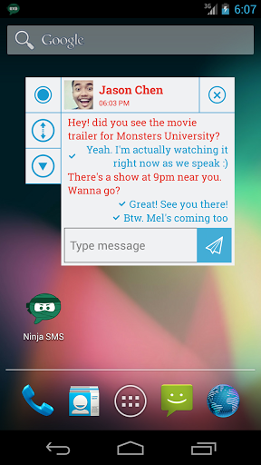 Ninja SMS android communication app