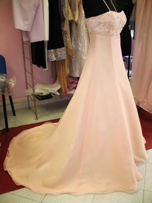 abiti di irina karaman,abito da sposa stile impero,abito semplice