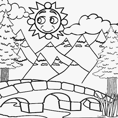 Free coloring pages printable pictures to color kids for Coloring pages mountains