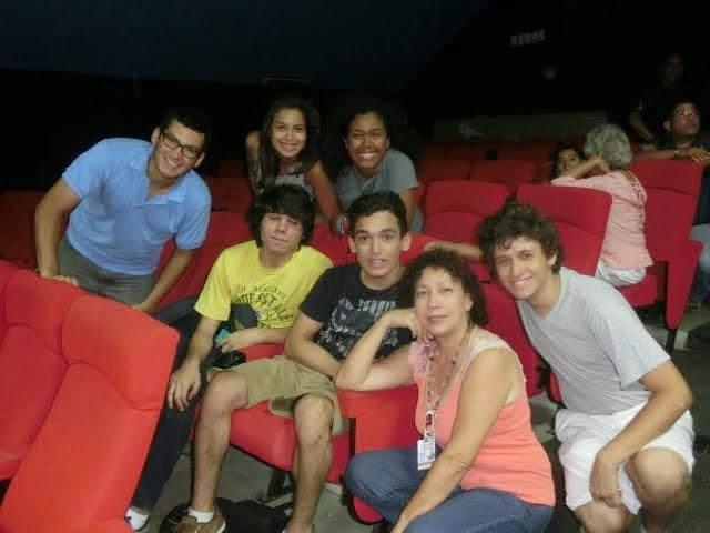 Con alumnos en el VII Festival de cine Margarita 2014