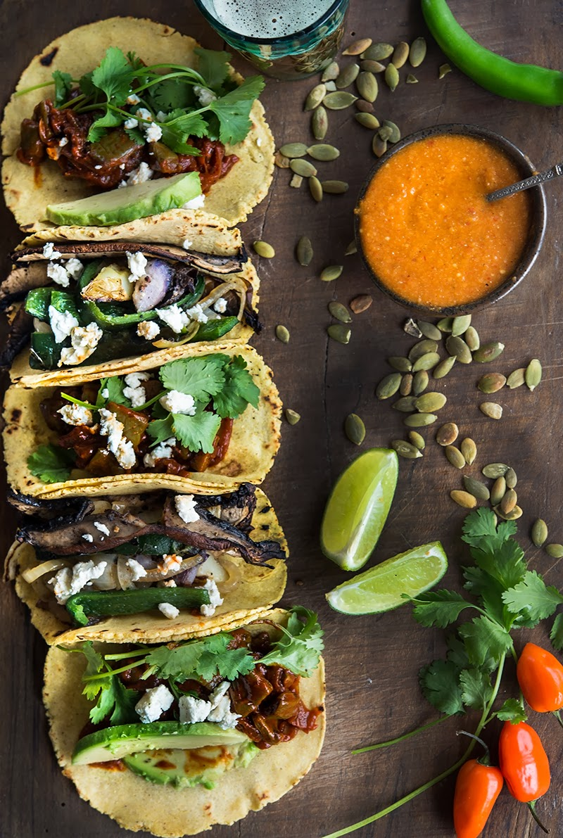 ... Greens and Sardines : Taco Party: Not Your Ordinary Vegetarian Tacos
