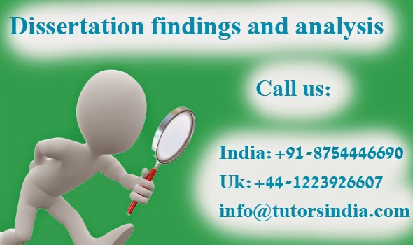 analysis and findings in dissertation Others feel that the intense exposure to study of the case biases the findings some dismiss case study  analysis for example, a case study  dissertation.