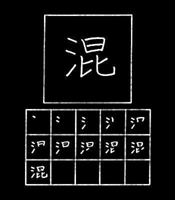 kanji mengocok