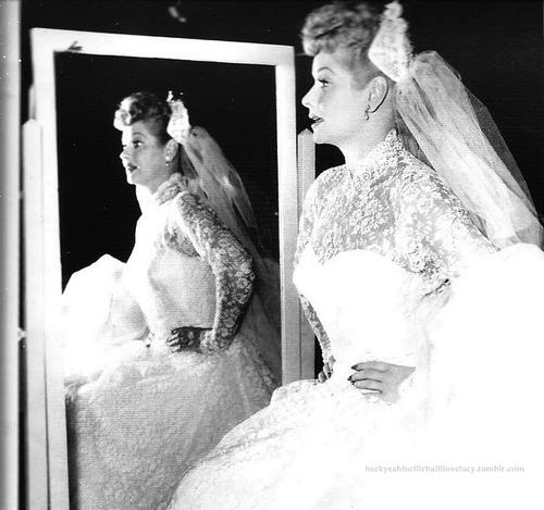 On the set ( wedding- long, long trailer) (1954)