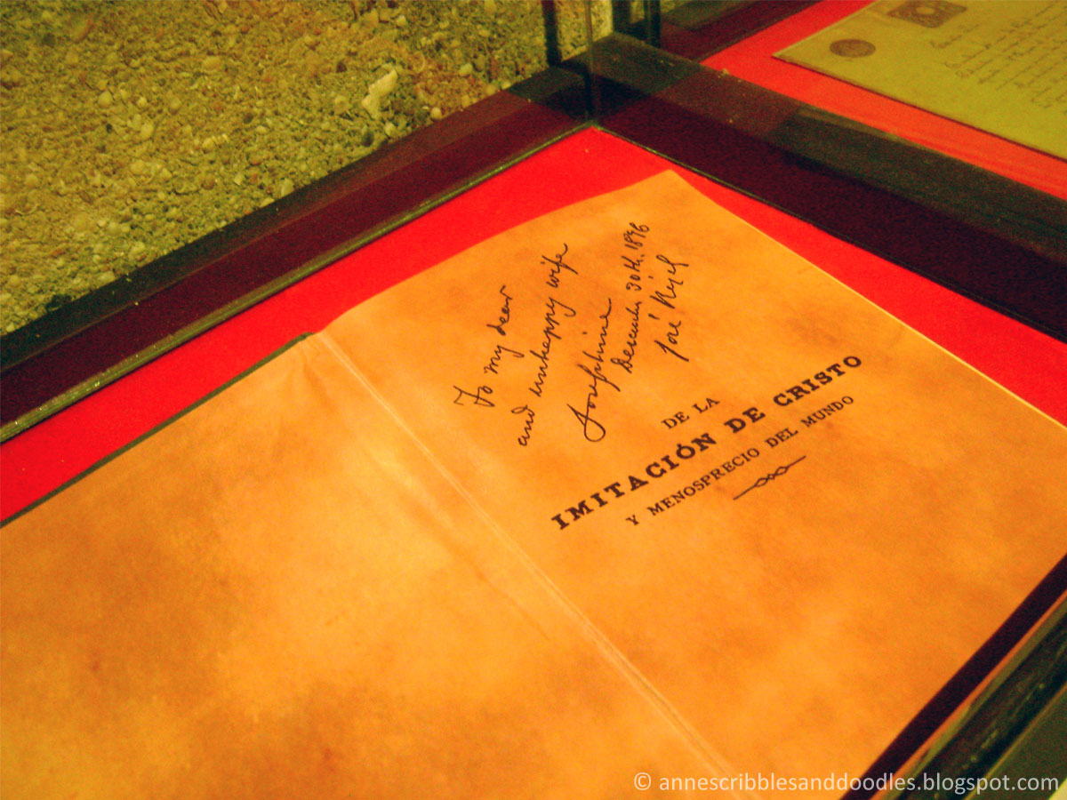 Jose Rizal Museum: Imitacion de Cristo