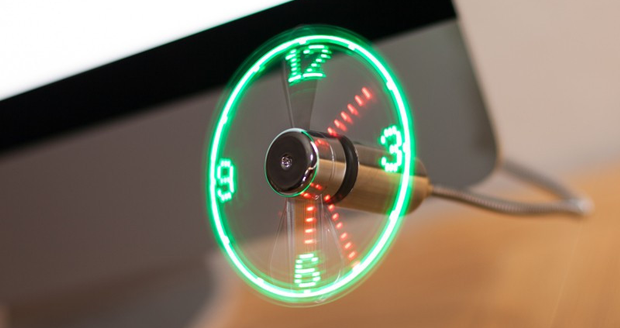 USB LED Clock Fan | Cool Sh*t You Can Buy - Find Cool ...
