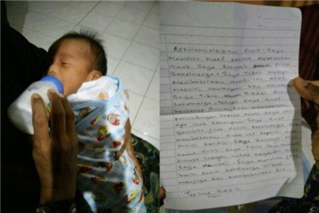 Ibu Tinggalkan Bayi Dan Sekeping Nota Gambar