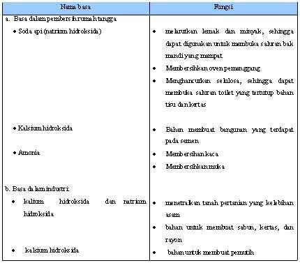Tabel  1.3 Beberapa Basa dan Fungsinya